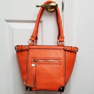 NWT structured purse Orange tote bag melie bianco